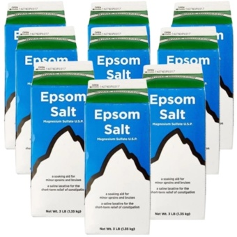 Epsom Salt - Saline Laxative Set of 9