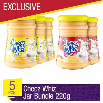 EXCLUSIVE Cheez Whiz Spread 220g Jar Bundle- Set of 5