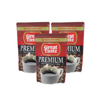 Great Taste Premium 100% Pure Instant Coffee 50grams Set of 3012273 W38