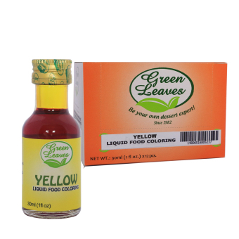 Green Leaves Concentrated Yellow Liquid Food Color 30ml x 12pcs