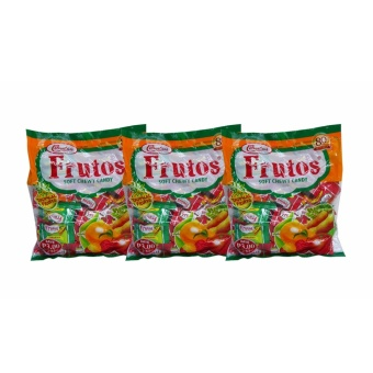 Green/Multicolor Colombia's Frutos Soft Chewy Candy Tropical Fruits53pcs 170g 3's 809071 w51 (MP)