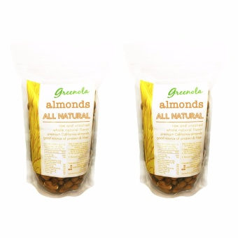 Greenola Whole Natural Almonds 500g Set of 2