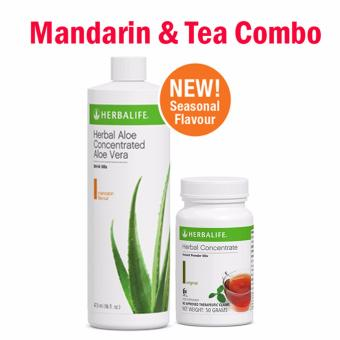 Herbalife Aloe Concentrate Mandarin Flavor and Herbal Tea Concentrate 50g