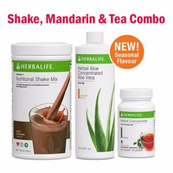 Herbalife Breakfast Pack (Dutch Choco Set) Shake, Mandarin & Tea 50g
