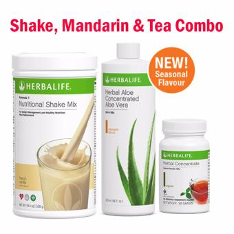 Herbalife Breakfast Pack (French Vanilla Combo) Shake, Mandarin & Tea