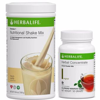 Herbalife F1 Nutritional Shake French Vanilla 550g Canister w/ Tea 50g