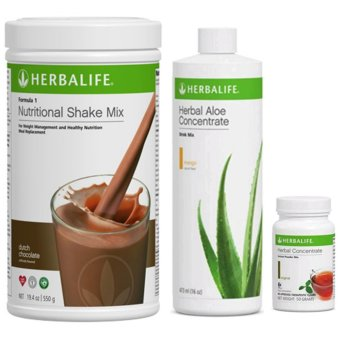 Herbalife Meal Replacement (Choco Shake, Aloe Mango & Tea 50g)