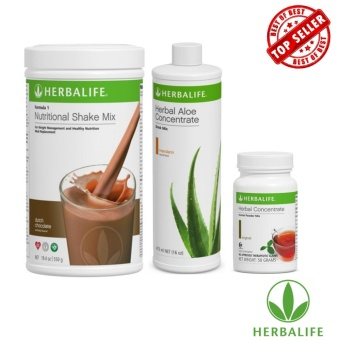 Herbalife Meal Replacement Pack (Dutch Chocolate, Aloe Mandarin Orange, Tea 50g)