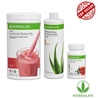 Herbalife Meal Replacement Pack (Wild Berry, Aloe Mandarin Orange,Tea 50g)