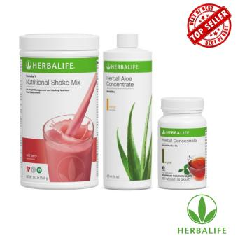 Herbalife Slimming Meal Replacement Set (Wild Berry, Aloe Mango,Tea 50g)