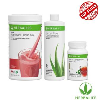 Herbalife Slimming Replacement Meal Pack (Wild Berry, Aloe Natural, Tea 50g)