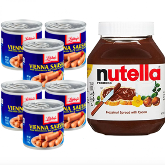Harga Nutella Hazelnut Spread with Cocoa 950 grams & Sausage 6 pcs