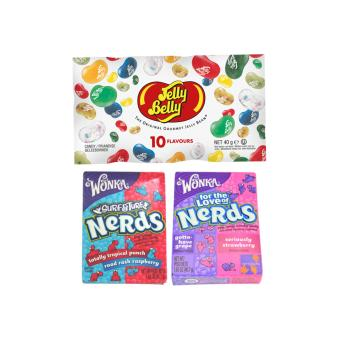 Jelly Belly 10 Assorted 40g bag + 2 Wonka Nerds Price Philippines