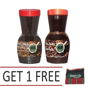 Harga Kalinga (Pure Robusta Dark Roast) Coffee Bundled with Pure Arabica Dark Roast Coffee With Free Baguio Coin Purse