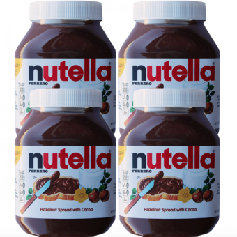 Harga Nutella Hazelnut Spread with Cocoa 950 grams Set of 4
