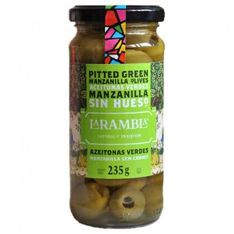 La Rambla Green Pitted Olives (Glass jars) 235 Grams Price Philippines