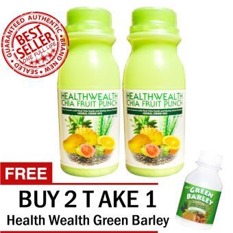 HWIC Fruit Punch With Real Chia Seed and Barley Grass Powder Sets of 2 with FREE 1 HWIC Green Barley Price Philippines