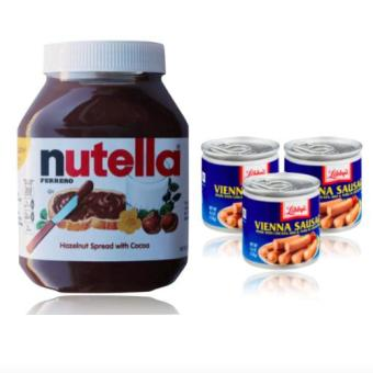 Harga Nutella Hazelnut Spread 950 g and 3 Libbys Vienna Sausage