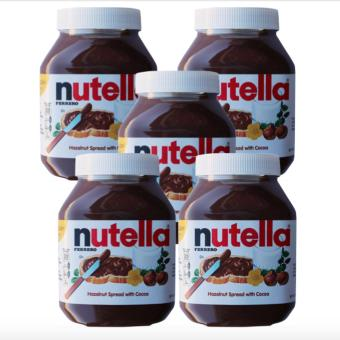 Harga Nutella Hazelnut Spread with Cocoa (900 gram) Set of 5