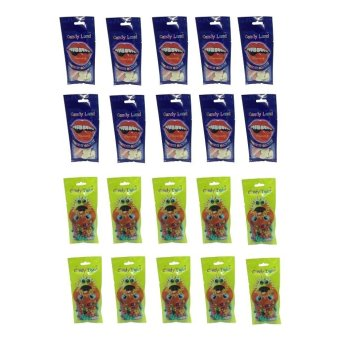 Candy Land Gummy Strawberry Top 50g Set of 10 and Candy Land Sunflower Seed 50g Set of 10 with Free 15 Piece Candy Land Strawberry Belt 50g Price Philippines
