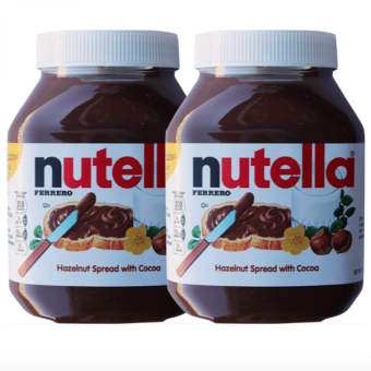 Harga Nutella Hazelnut Spread with Cocoa (950 gram) Set of 2