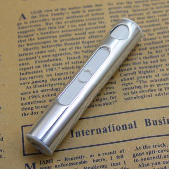 Harga GMY Portable USB Lighter Flameless Windproof Currency Detector Rechargeable Aluminum Lighter Cigarette (Silver)