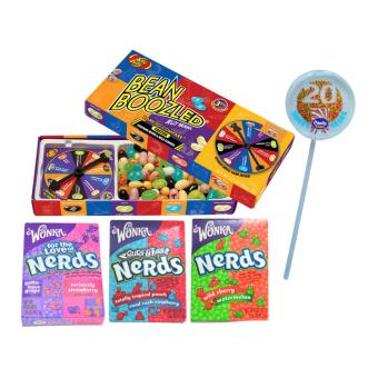Jelly Belly Bean Boozled Spinner Gift Box + 3 Assorted Wonka Nerds FREE Candy Corner 20 Lollipop Price Philippines