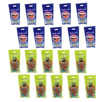 Candy Land Gummy Cola Bottle 50g Set of 10 and Candy Land Sunflower Seed 50g Set of 10 with Free 20 Piece Candy Land Strawberry Belt 50g Price Philippines