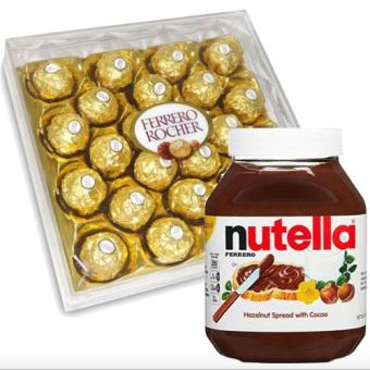 Harga Ferrero Rocher 24 pcs + Nutella Hazelnut Spread with Cocoa 950g