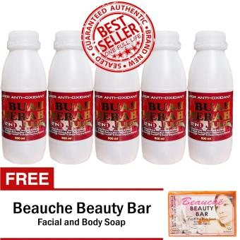 Harga Super Antioxidant Buah Merah 12 in 1 Powder Juice 500ml 5 Bottles with FREE Beauche Beauty Bar