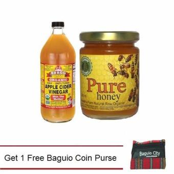 Harga Bragg Organic Apple Cider Vinegar Raw Unfiltered 947ml Bundled with Natural Pure Raw Honey Get 1 Free Baguio Coin Purse