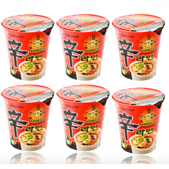 Harga Nongshim Shin Cup Noodle Soup, Gourmet Spicy, 2.64 Ounce (Pack of 6)