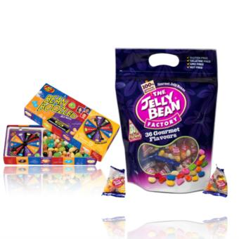 The Jelly Bean Factory 435 g (36 Gourmet Flavours) & Jelly Belly Bean Boozled Spinner and Refill Boxes bundle Price Philippines