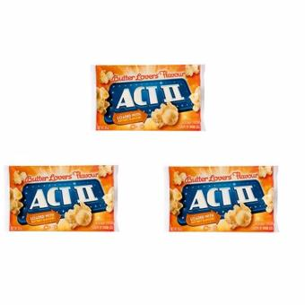 ACT II Butter Lovers Flavour Popcorn 85 grams (SET OF 3) Price Philippines