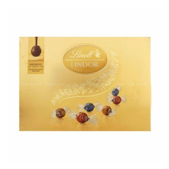 Harga Lindt Lindor Assorted Chocolate (Milk Chocolate, Hazelnut, Dark Chocolate) 168g