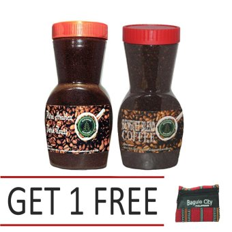Harga Pure Arabica Dark Roast Coffee Bundled with Benguet Blend Coffee With Free Baguio Coin Purse
