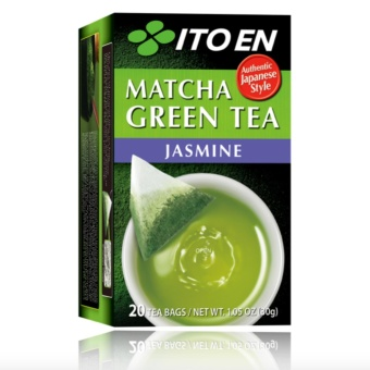Ito En Matcha Green Tea Jasmine 20 Tea Bags (30g) with freeSilicone Digital Watch ( color may vary)