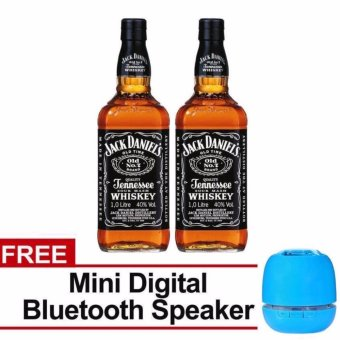 Jack Daniel's Old No. 7 Tennessee Whiskey 1L Set of 2 with FreeBluetooth Speaker