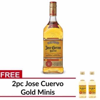 Jose Cuervo Especial Reposado Gold Tequila 1L with FREE 2pc CuervoMinis