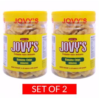 Jovy's Banana Chips 400g Set of 2