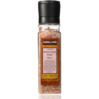 Kirkland Himalayan Pink Salt with Grinder 368.5g (13oz) with FREERubber Bracelet LED Digital Wrist Watch (Color may vary)