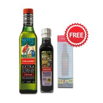 La Rambla Extra Virgin Olive Oil 500ML + La Rambla Balsamic Vinegar 250ml + FREE NOTEPAD