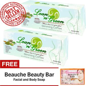 Lean n Green Slimming Coffee (2 Boxes) with FREE Beauche Beauty Bar