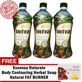 Lifestyles Intra 23 Herbal Juice 950ml (3 Bottlles) with FREE Contouring Soap