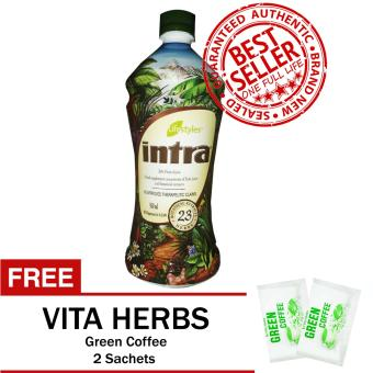 Lifestyles Intra 23 Herbal Juice with FREE Vita Herbs Green Coffee 2 Sachets