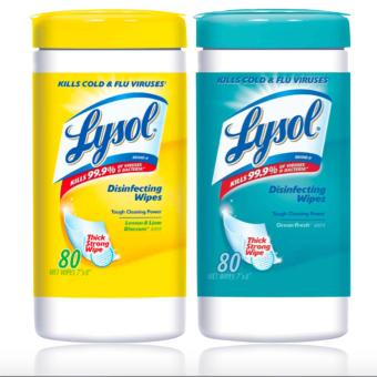 Lysol Disinfecting Ocean Fresh, 80 Wet Wipes 576g LysolDisinfecting Ocean Fresh, 80 Wet Wipes 576g