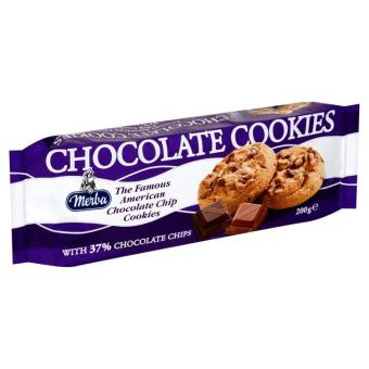 Merba Chocolate Cookies 200g with 37 Chocolate Chips