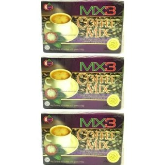 MX3 Coffee Mix with Mangosteen Exocarp Boxes of 3