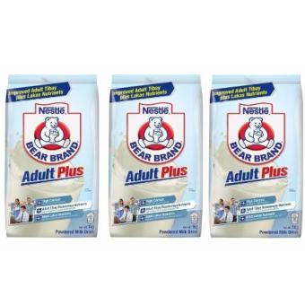 Nestle Bear Brand Adult Plus 1kg - Set of 3 Price Philippines