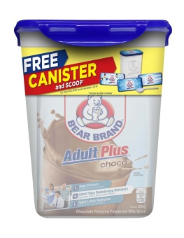 NESTLE BEAR BRAND ADULT PLUS Choco 600g Pouch with FREE Canister and Scoop Price Philippines